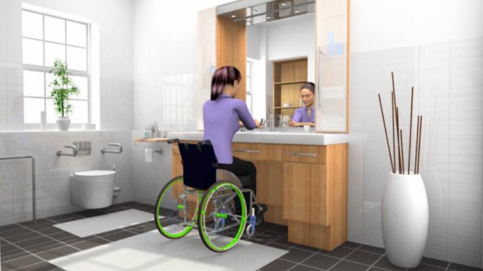 Handledning för SpeediCath® för kvinnor i rullstol